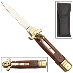 Wood & Brass Leverletto Automatic Knife